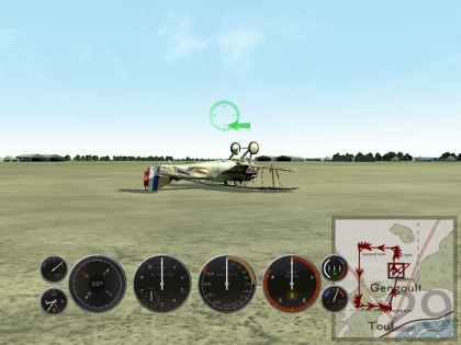 a well-crashed plane in Rise of Flight.