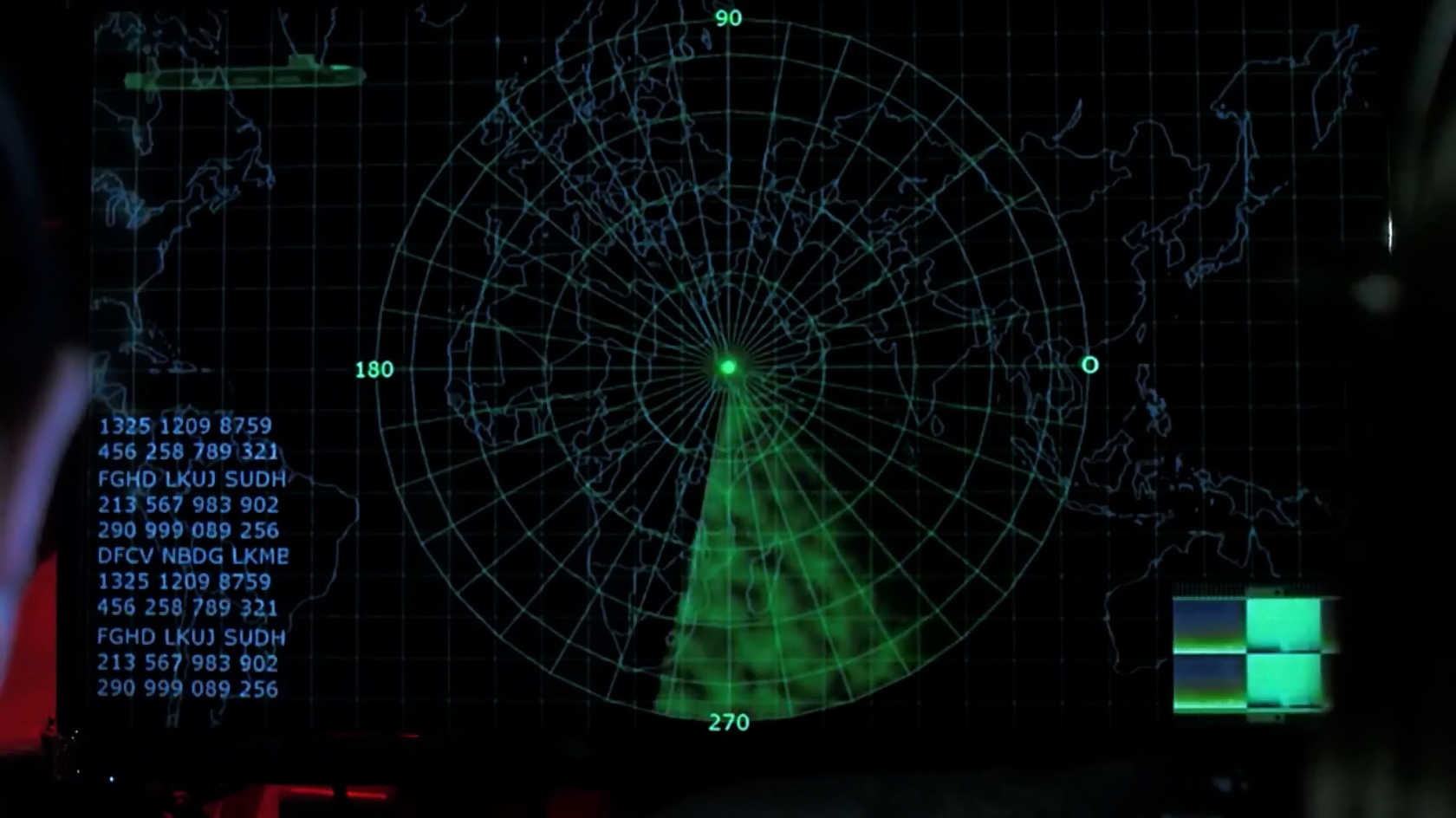 SONAR is detecting large landmasses, possibly Africa and Asia Minor.