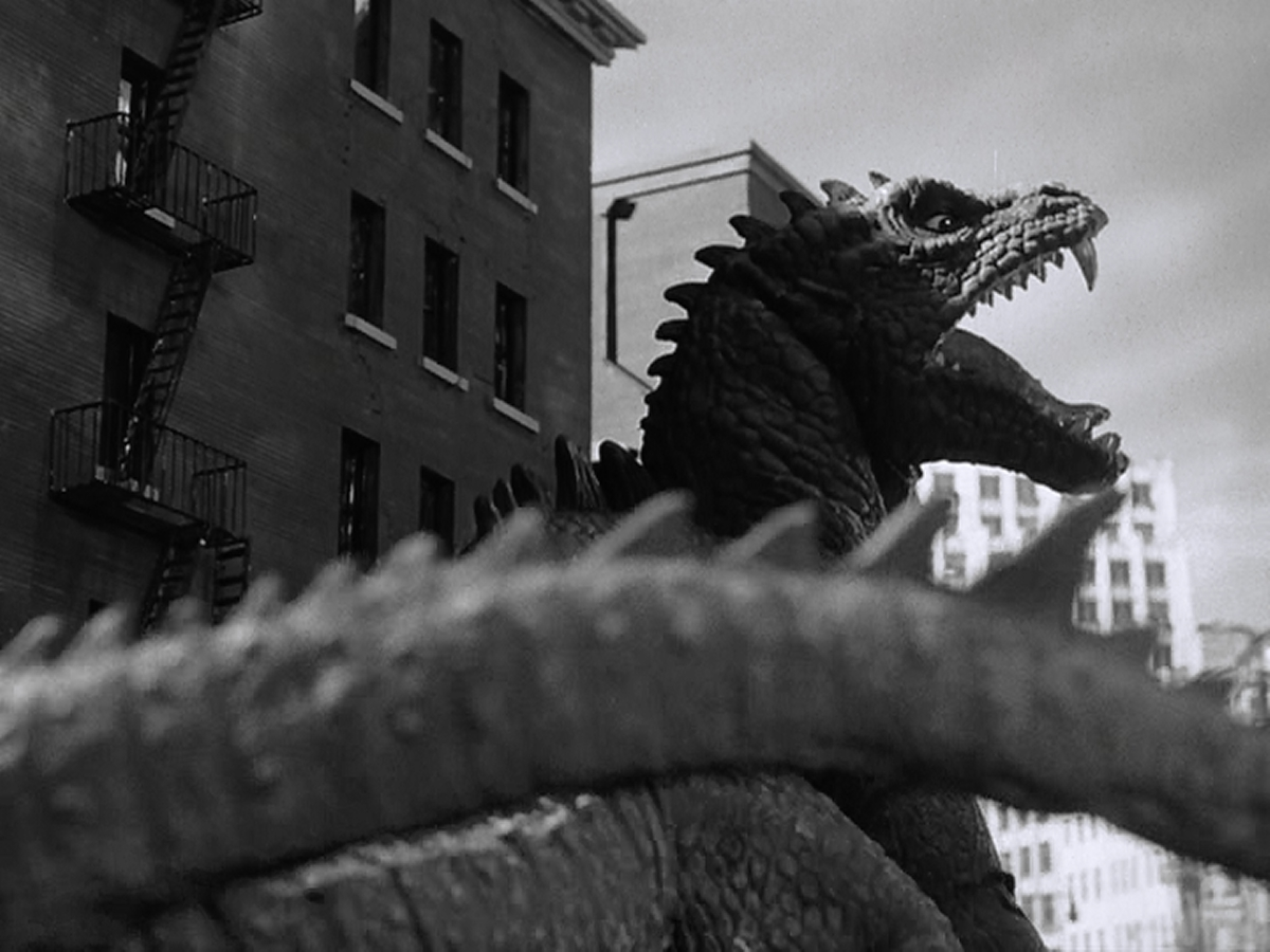 A beautifully shot frame from Beast from 20,000 Fathoms.