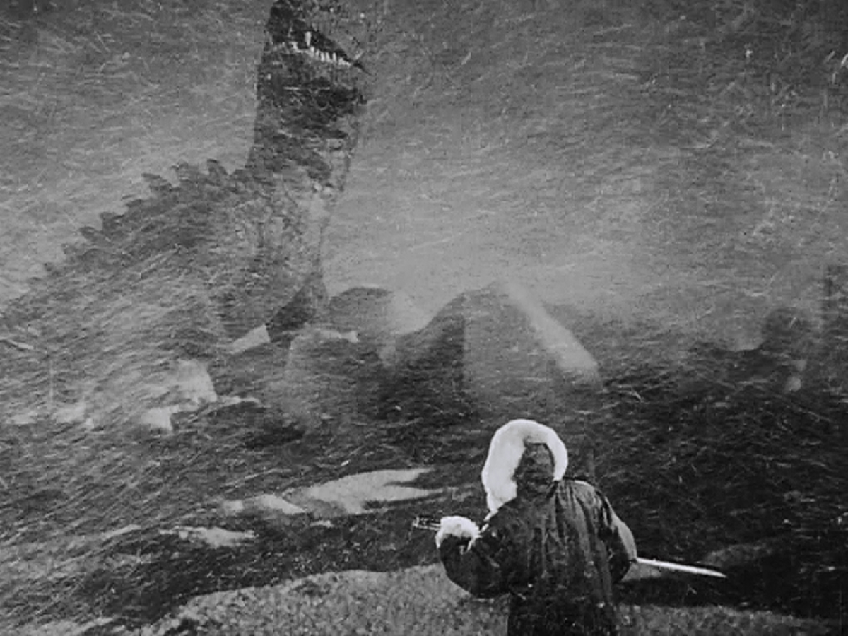 The first look at of Harryhausen's magnificent dinosaur.