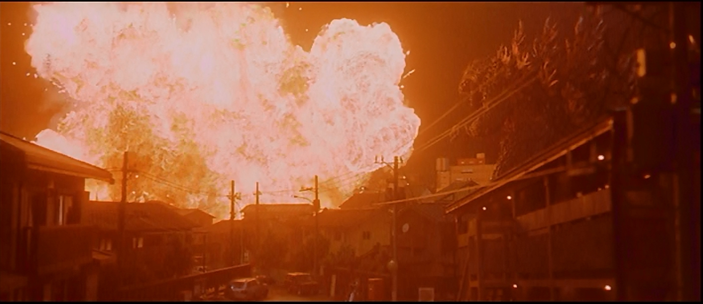 Things near Godzilla go BOOM
