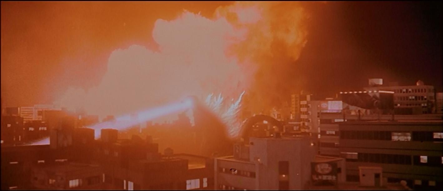 Godzilla wrecks stuff.