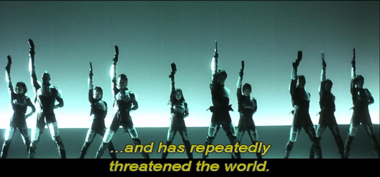 But not us. We've got guns but we're totally not a threat.