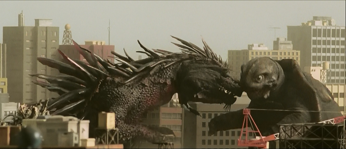Gamera, as grown as he's going to get in this movie.