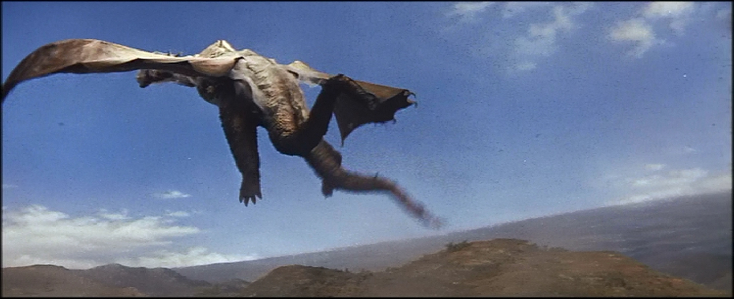 I'm sure there's a curses foiled again in monster dialog as Ghidorah flies off.
