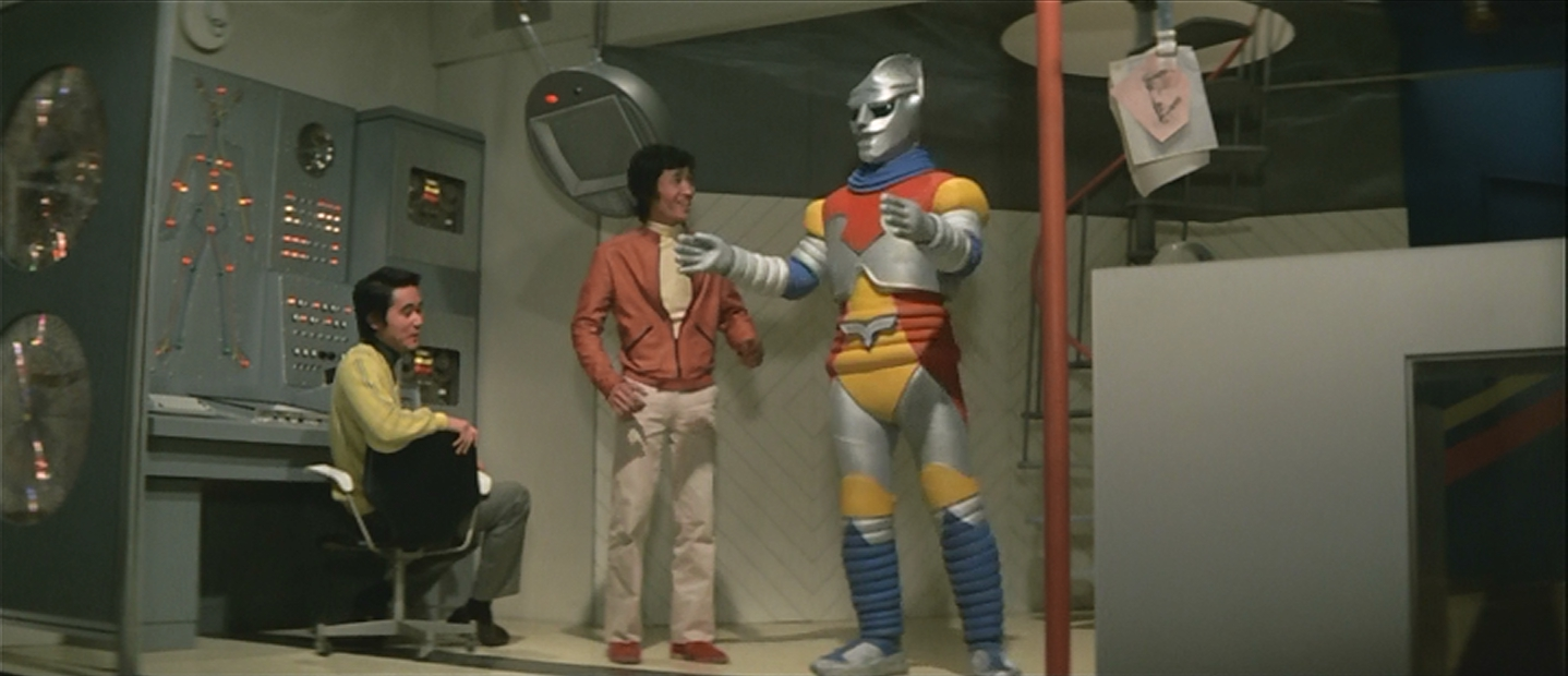 Jet Jaguar, the first robot colored with crayon