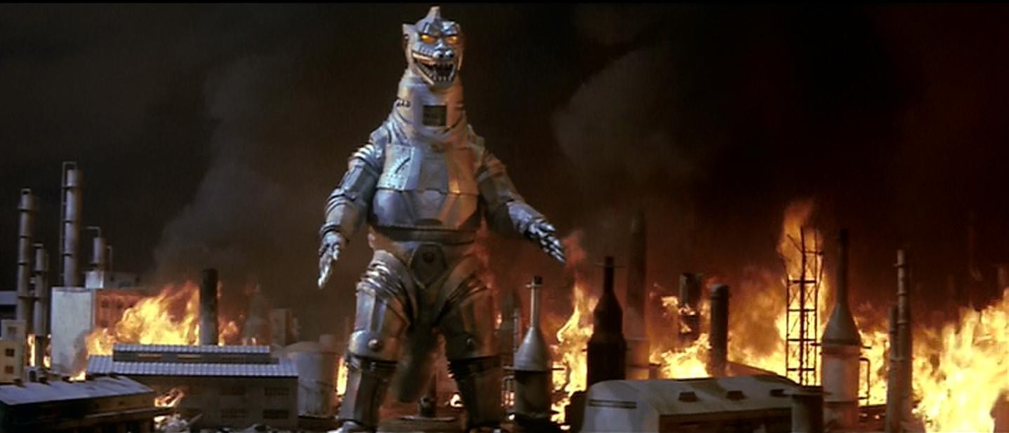 Shiny, evil Godzilla robot!