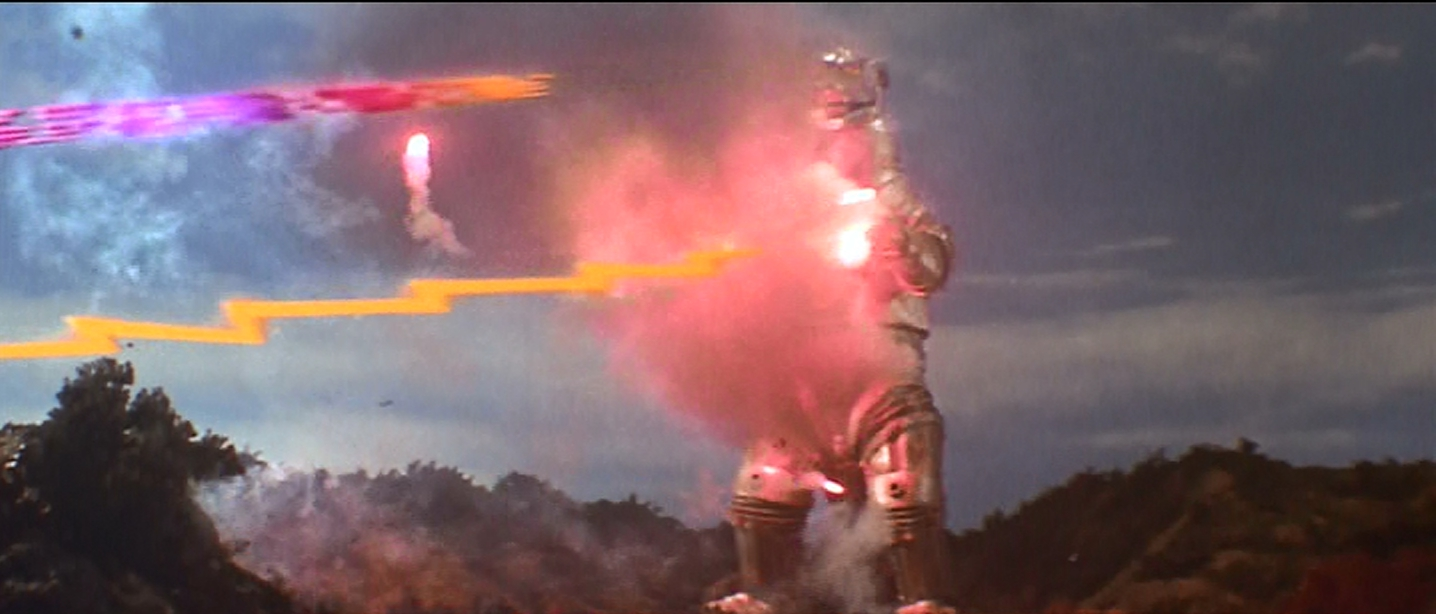 Mechagodzilla pours out the destruction.