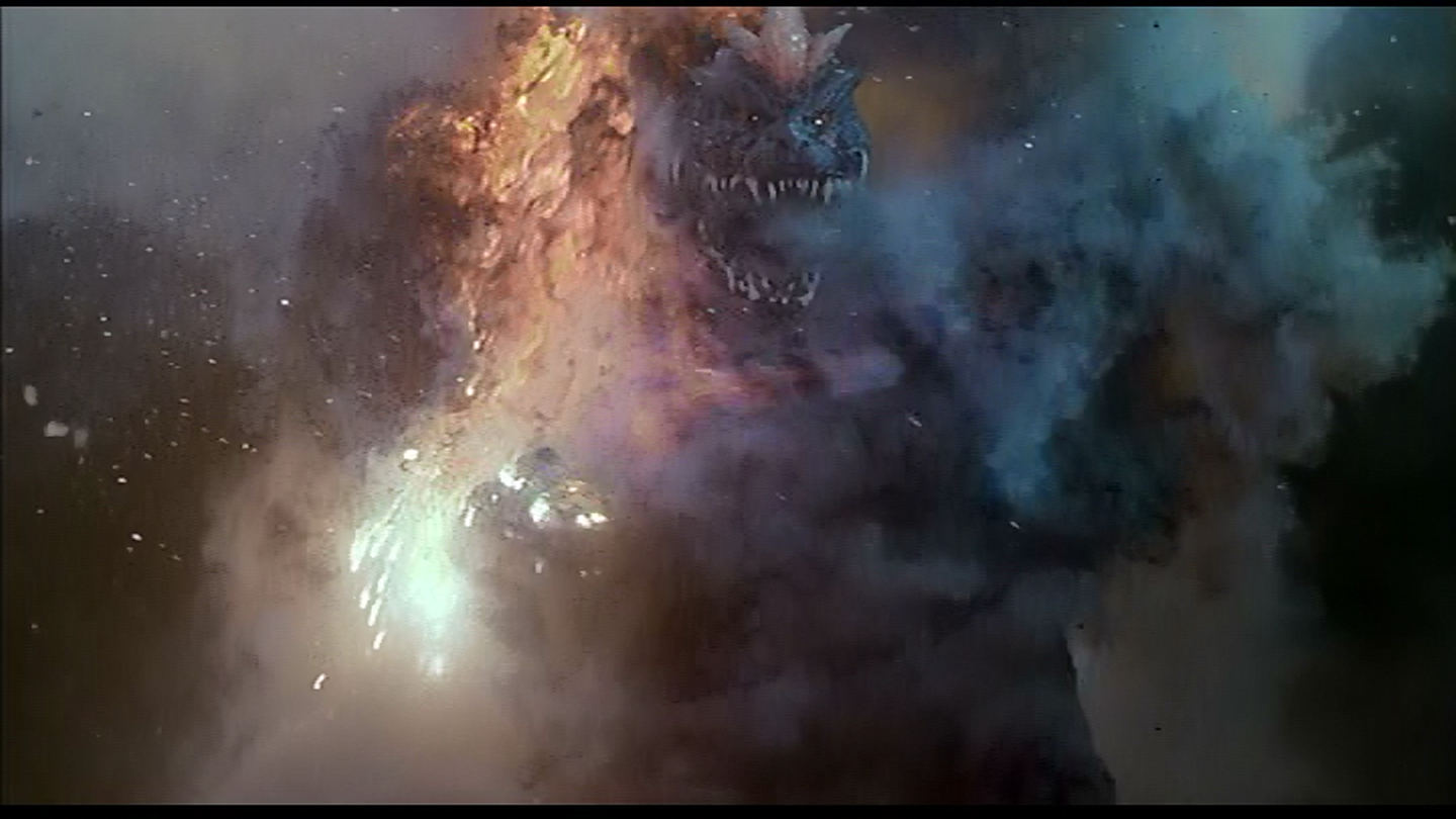 Space Godzilla Takes Some Fire.