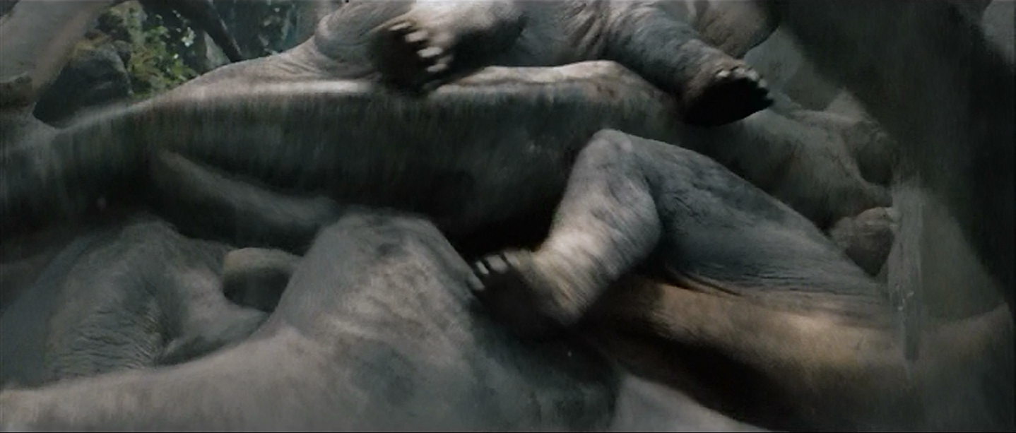 Dinosaur pile-up.
