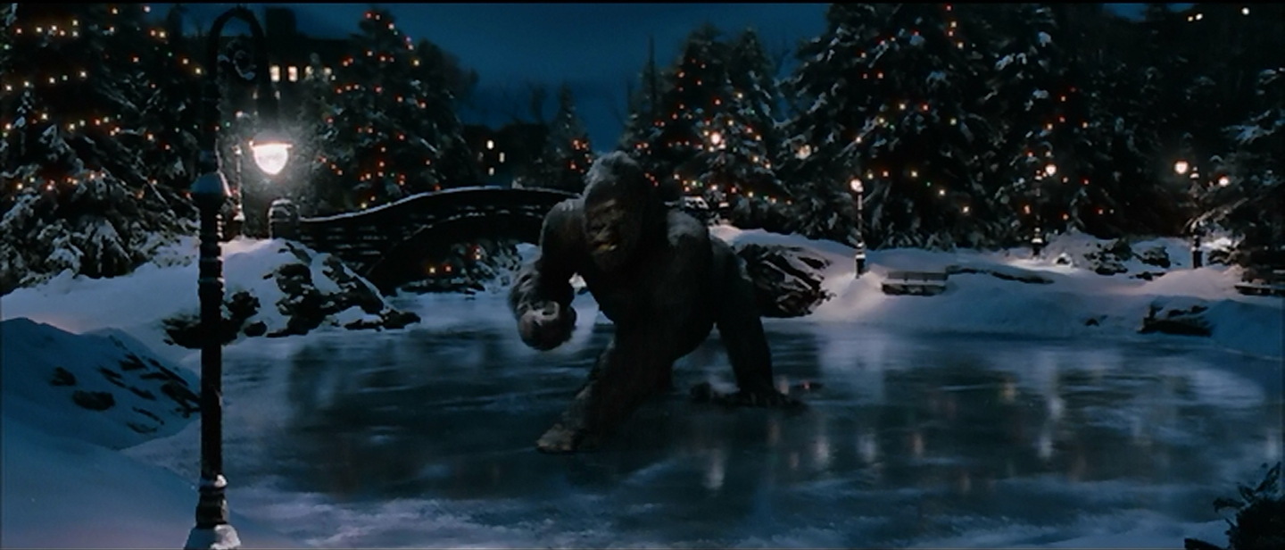 Kong learns to skate.