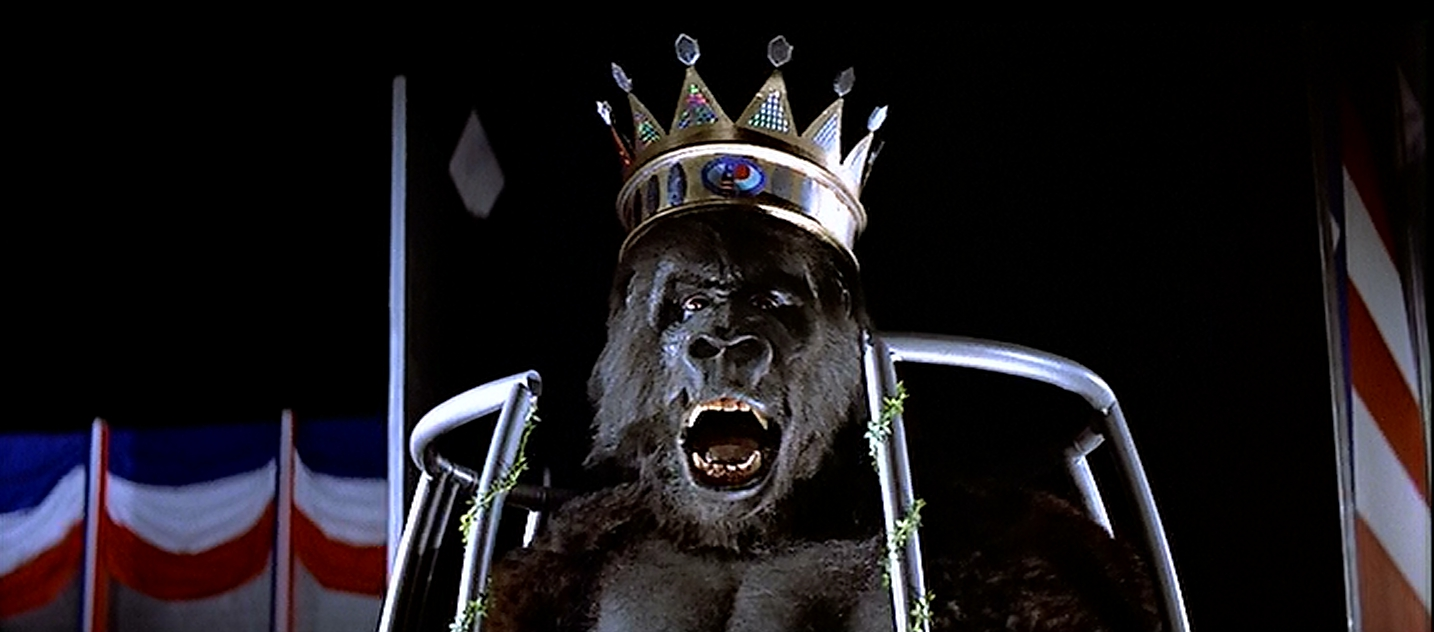 Kong wears a Burger King Crown.