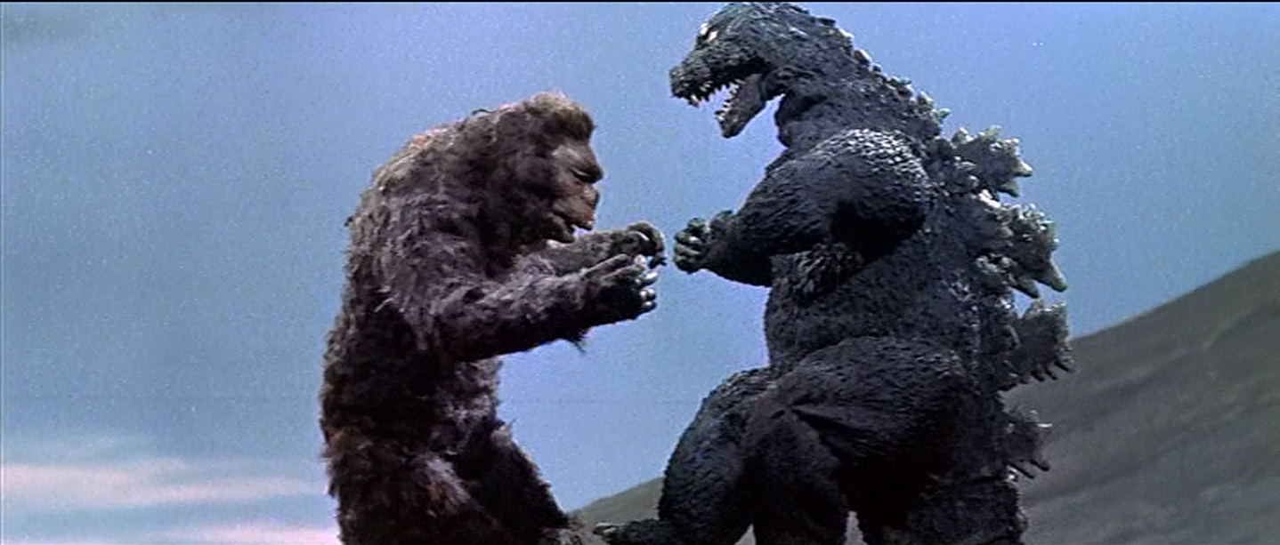 Kong looks better in stop-motion than he does in suitmation.