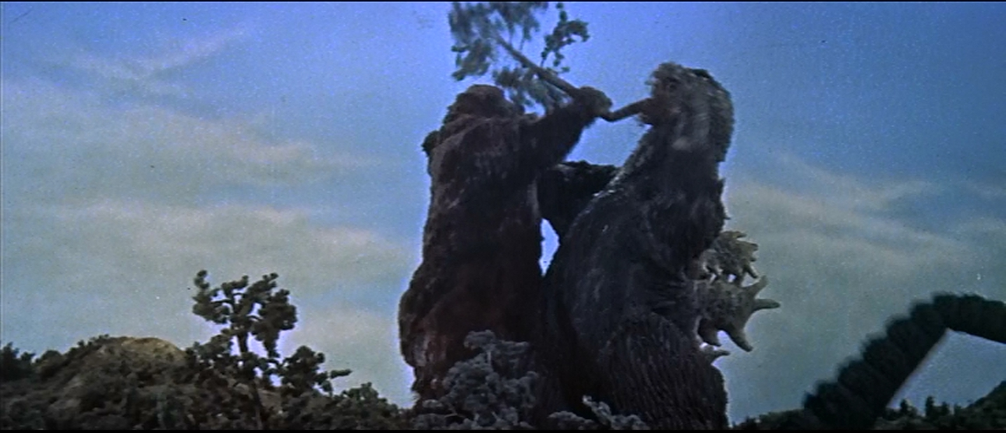 Godzilla clears it in his inimitable way: he burns it out.