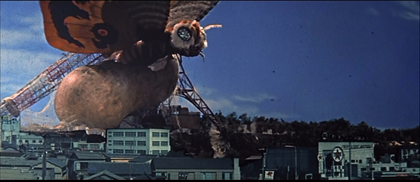 Mothra smashes a ship!