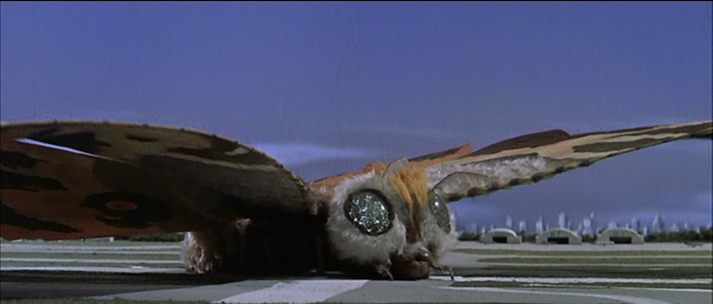Mothra makes a perfect landing.