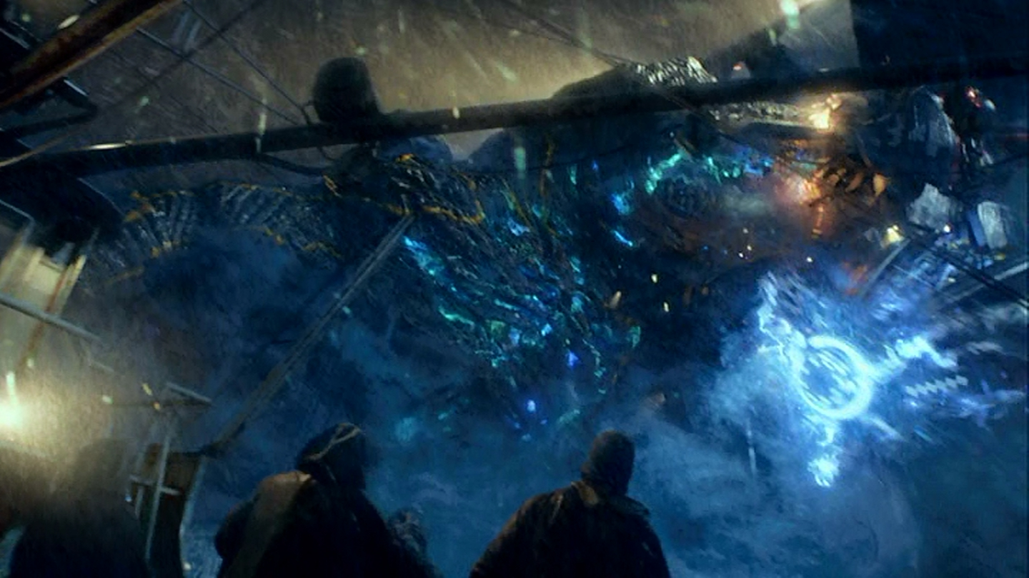 Front seat on a kaiju-jaeger fight? That's why I got into fishing!