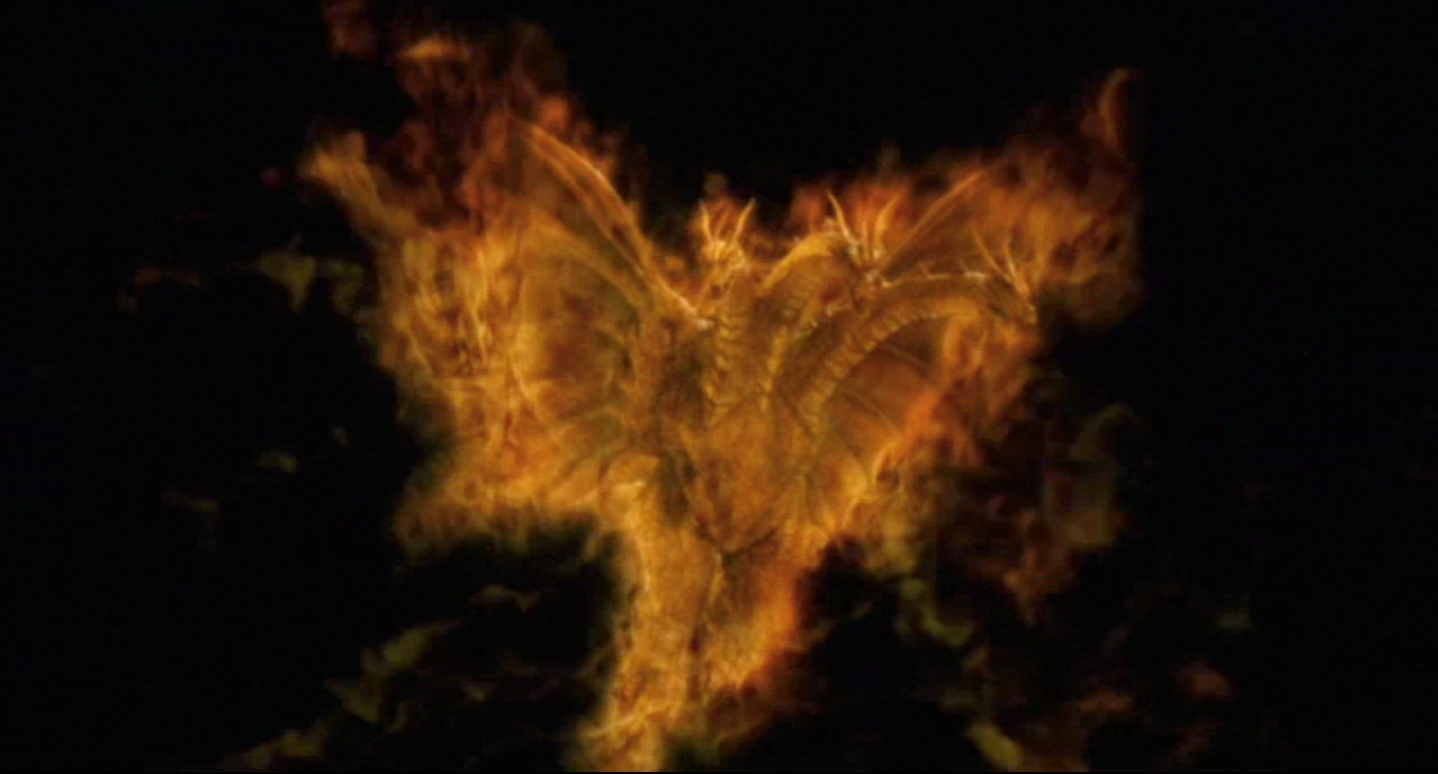 BURNING GHIDORAH!