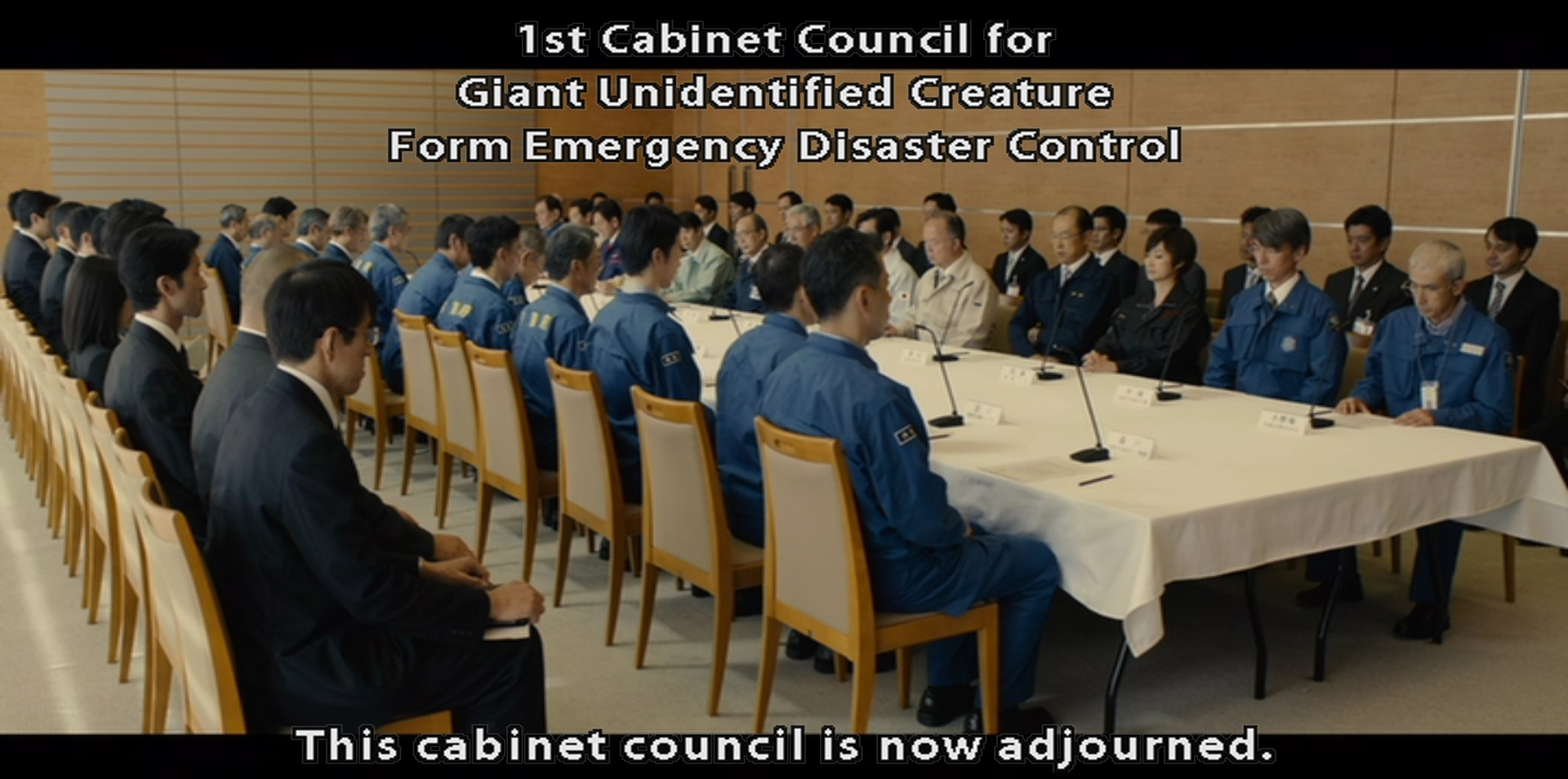 Shin Godzilla's primary opponent: bureaucracy